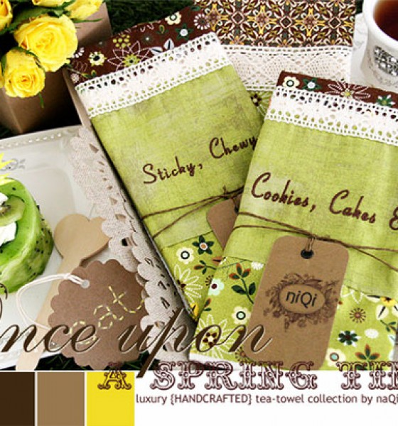 niQi luxury tea-towels :: {Once Upon A Spring Time} collection