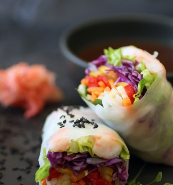 Fashionable Foodie; Vietnamese Rainbow Spring Rolls